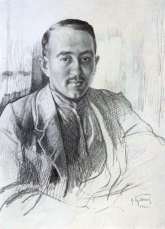 07_Matyash_Rakoshi_Portret_raboty_Isaaka_Brodskogo_1920
