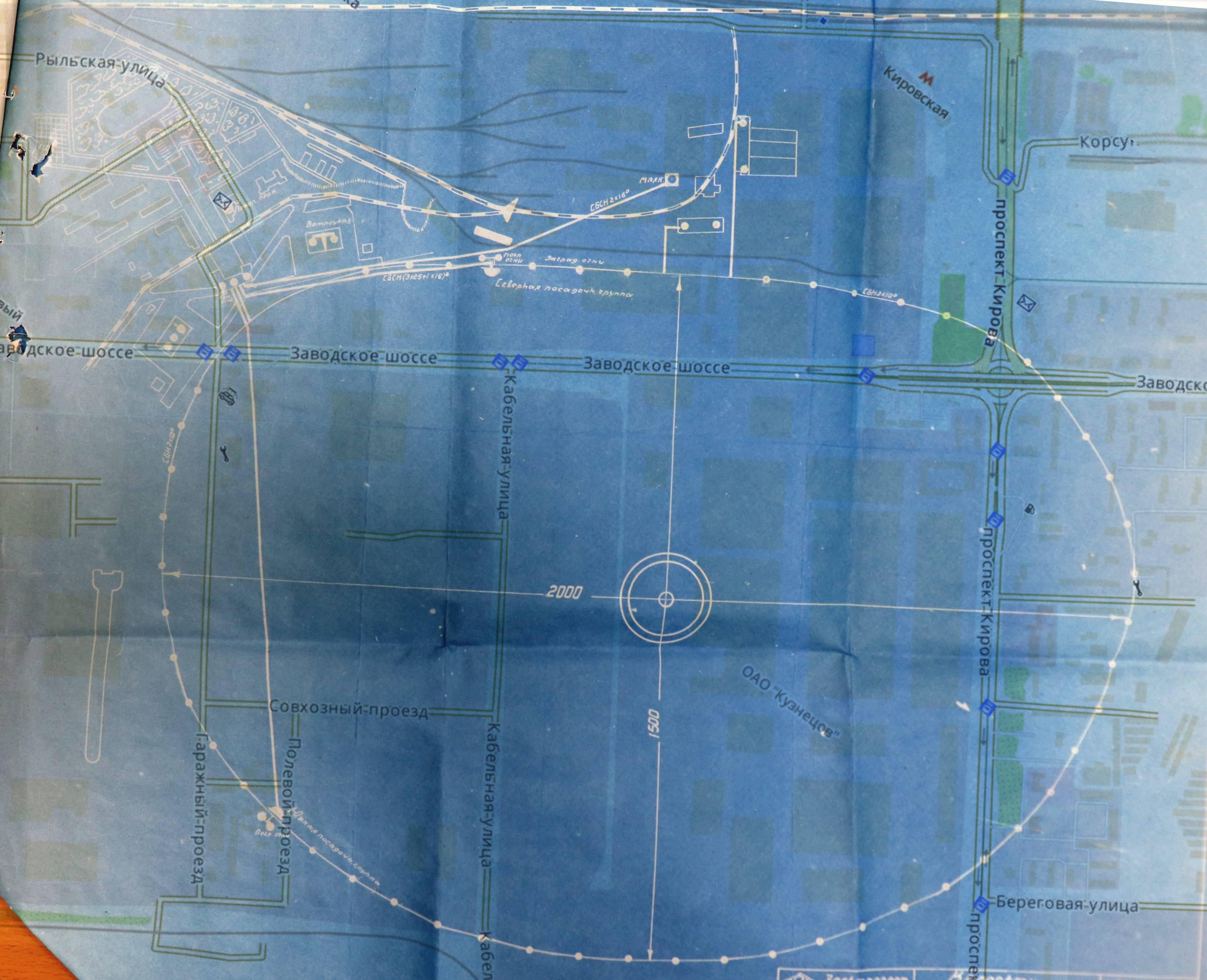 05 Аэродром и авиагородок. Схема 1931 года