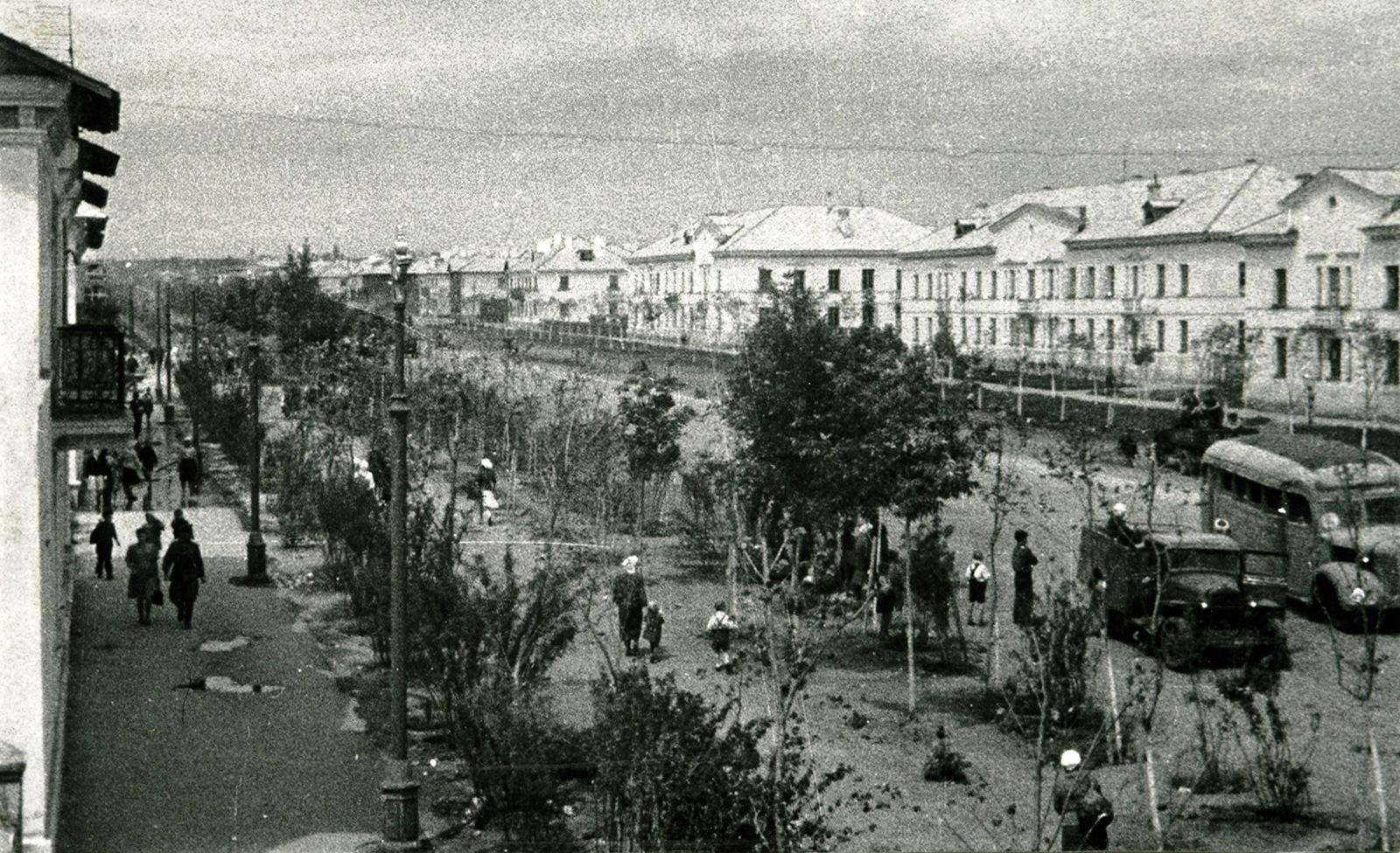 Кировское шоссе в конце 1940-х годов