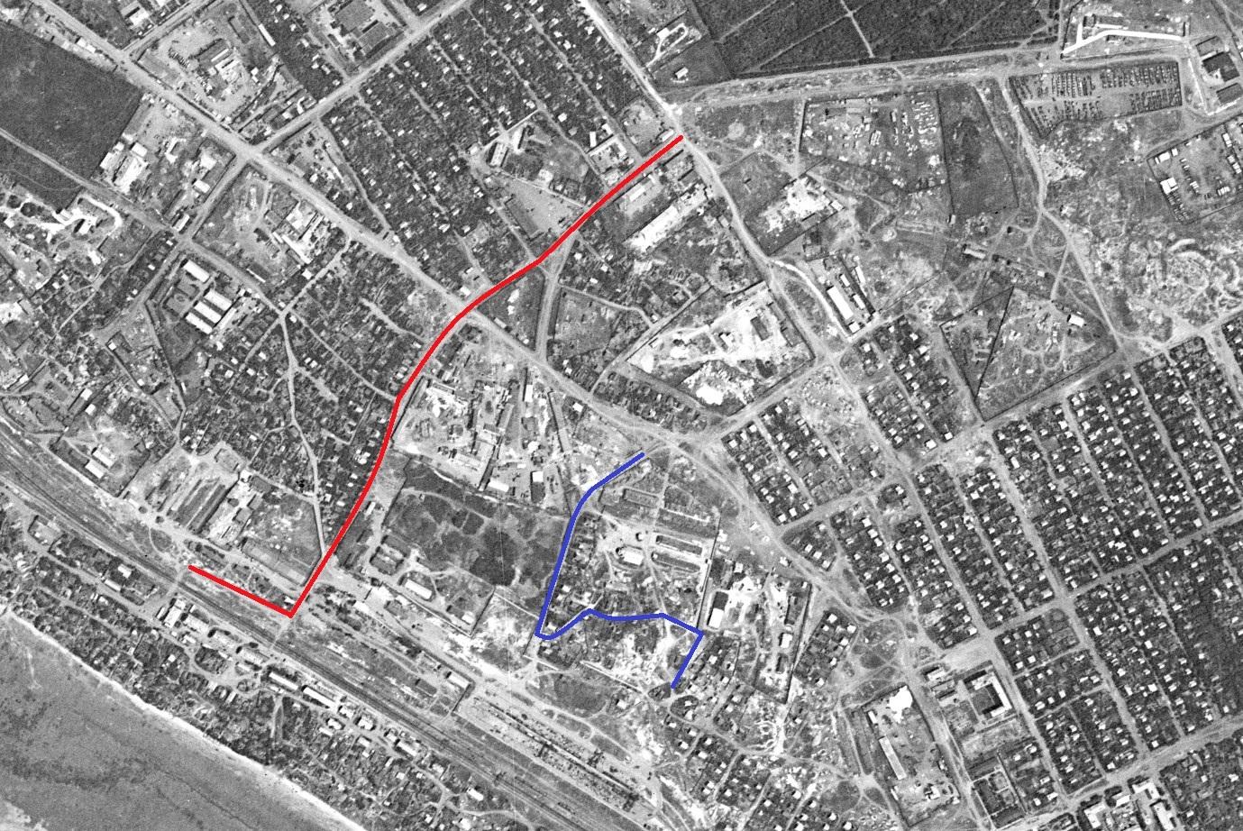 Улица Речная в 1966 году