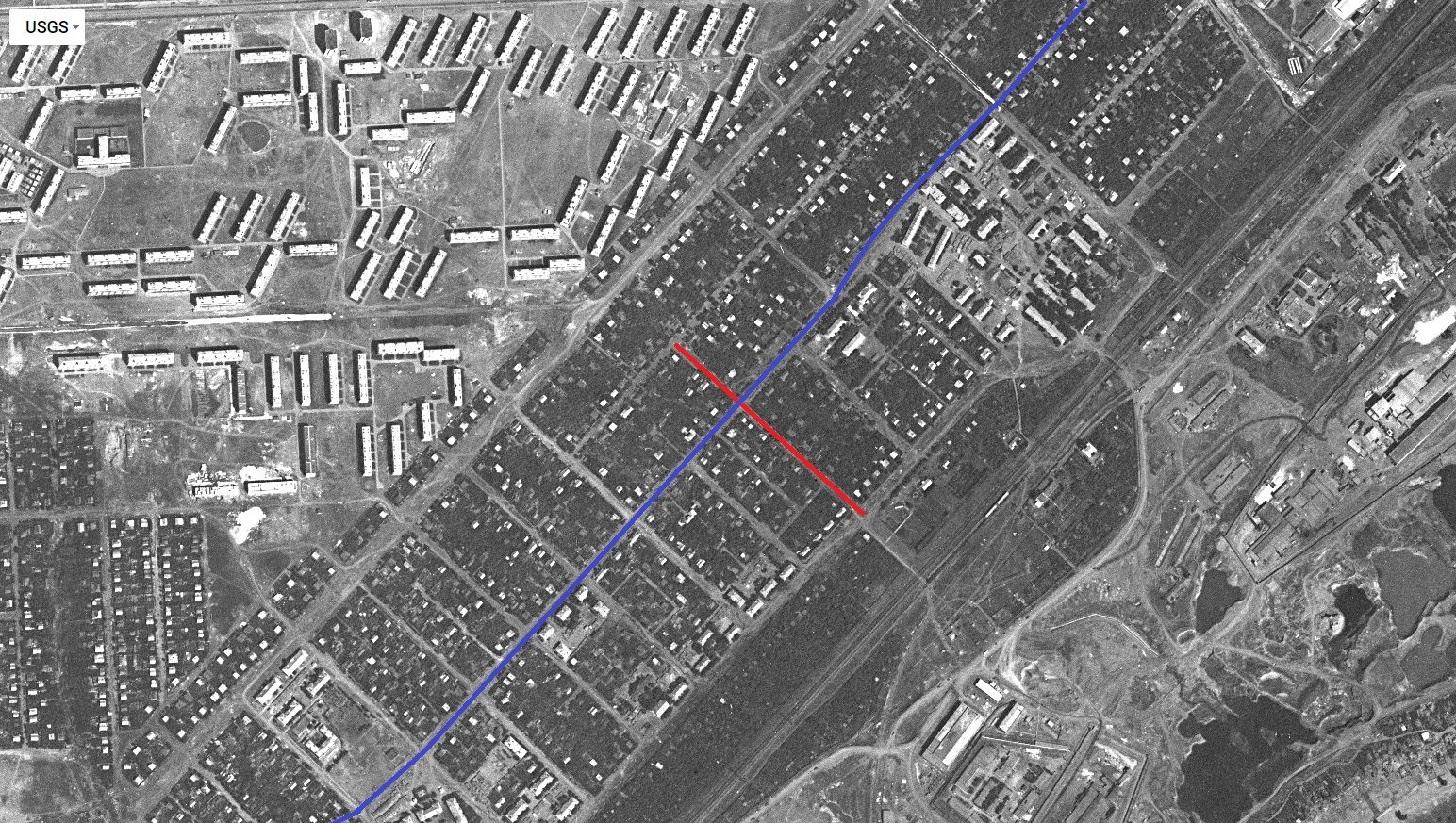 Улица Сахалинская 1967 год