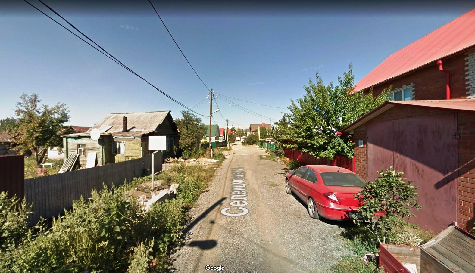 Вид на улицу Селекционную от улицы Литвинова