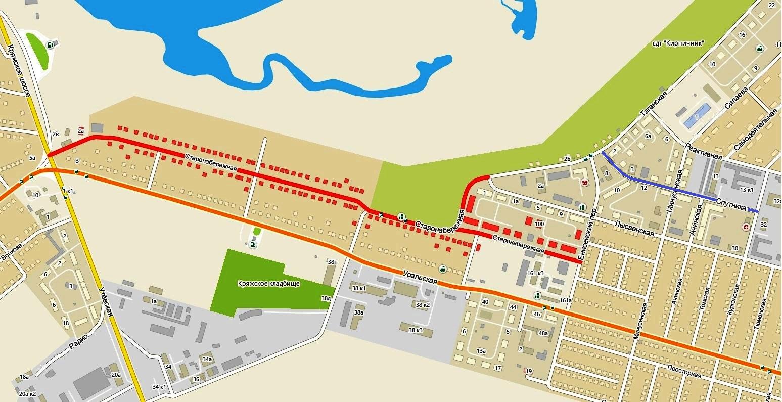 Улицы Спутника и Старонабережная в Самаре