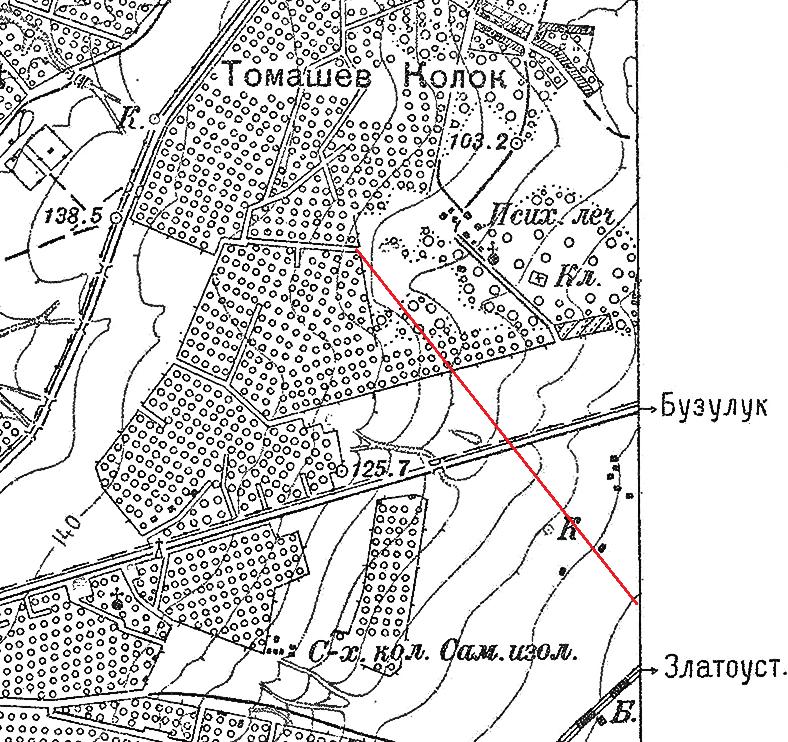 Карта Самары 1927 года