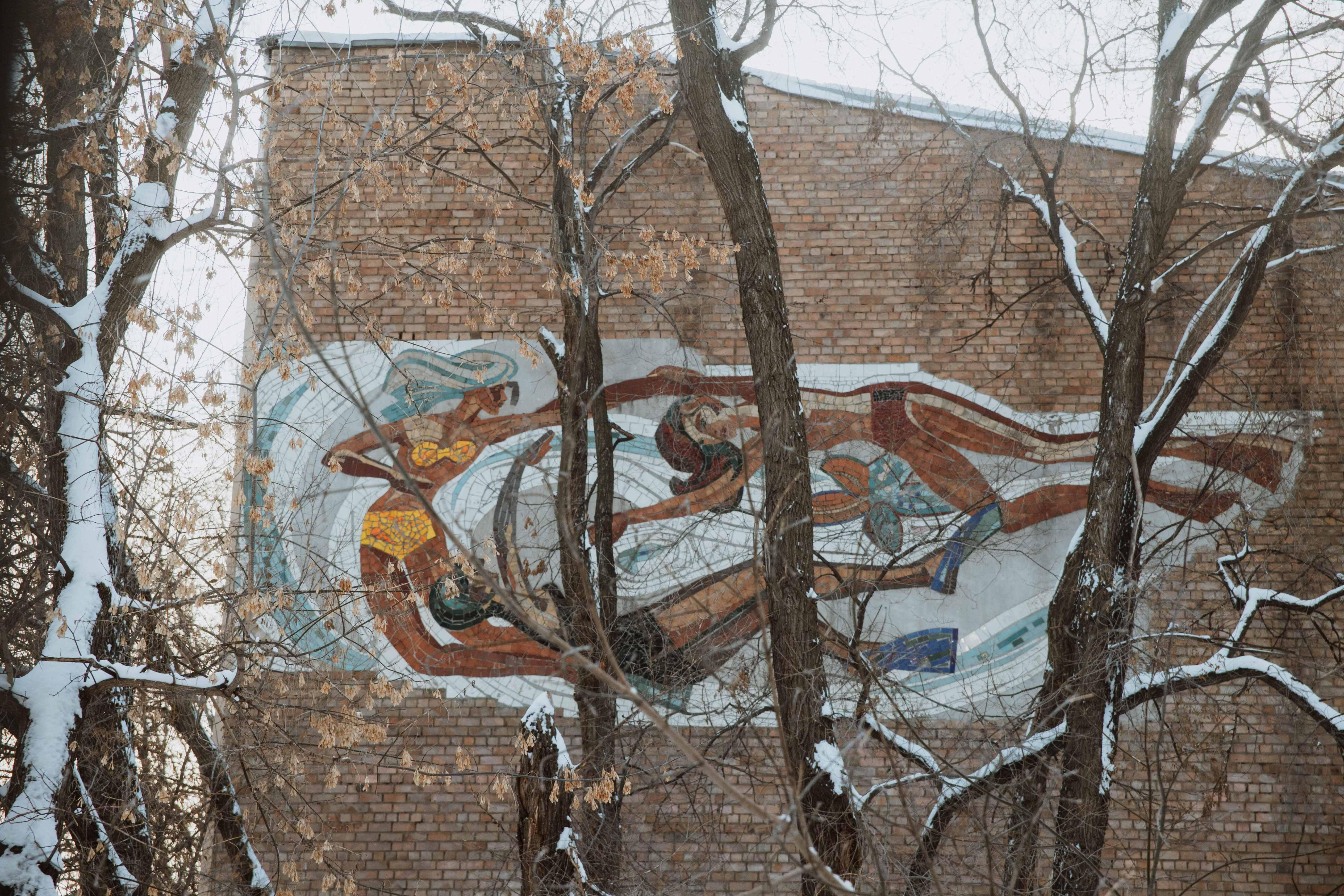 Мозаика на бассейне Локомотив