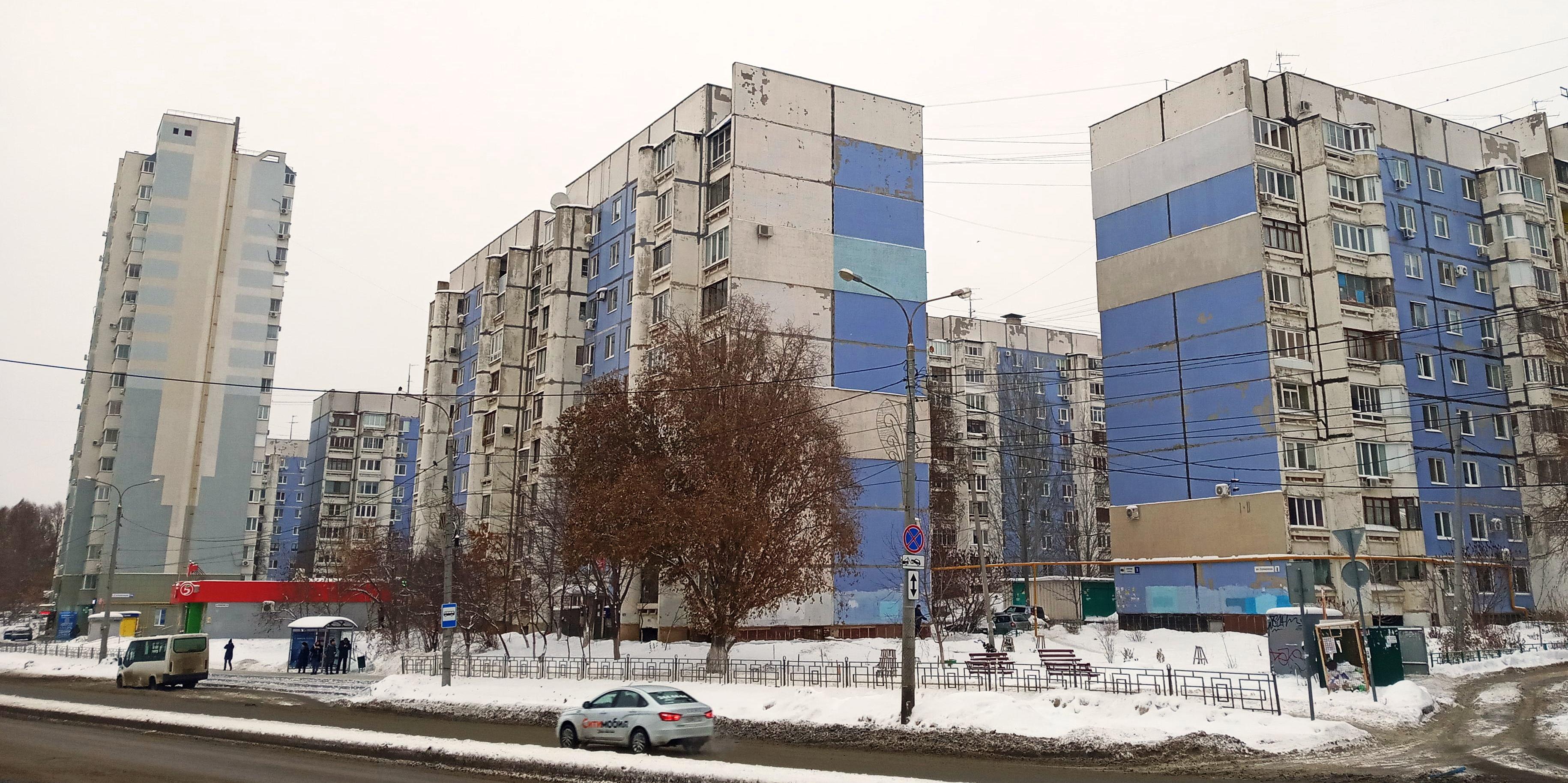 Первые дома улицы Солнечной