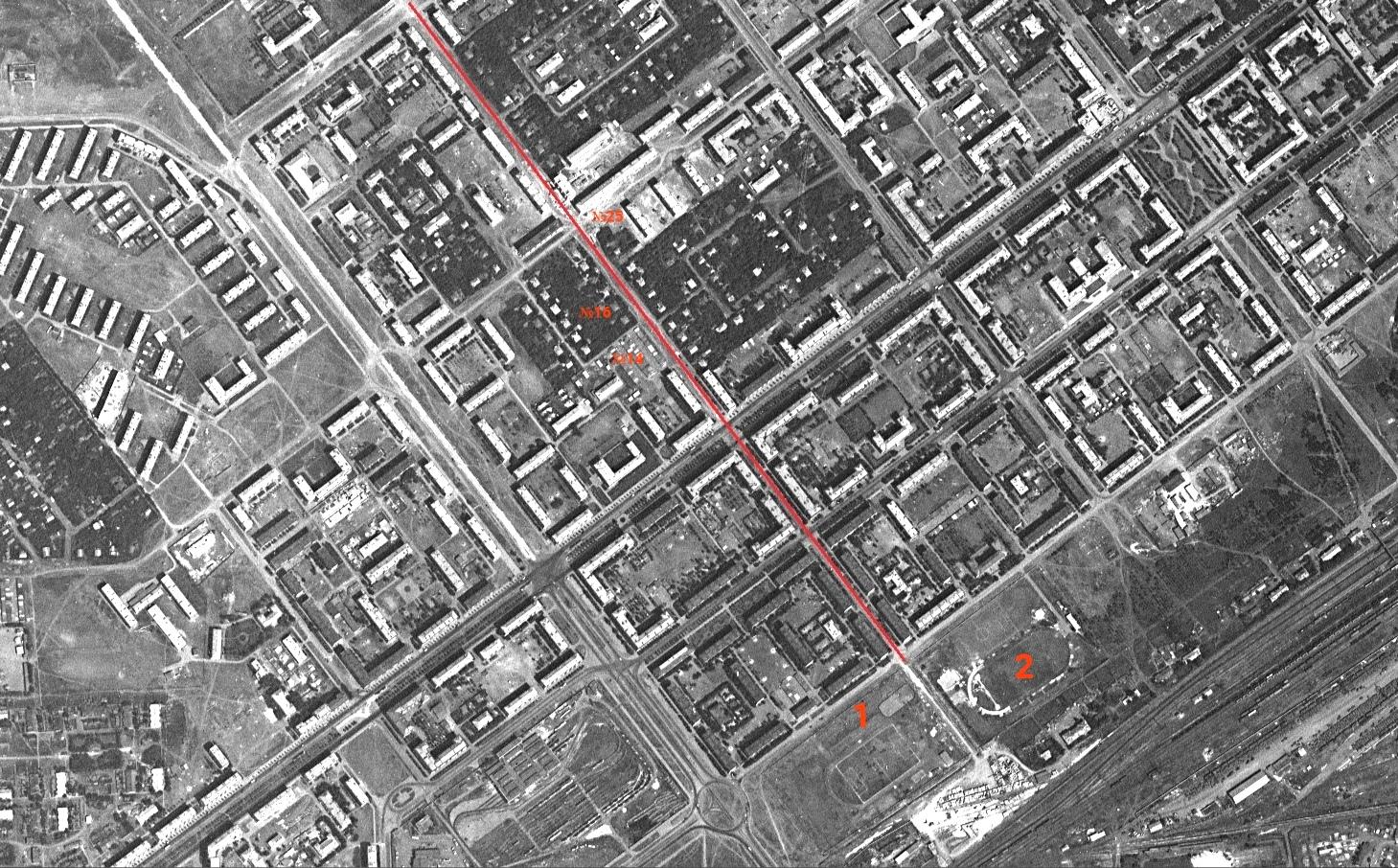 Улица Средне-Садовая в 1967 году