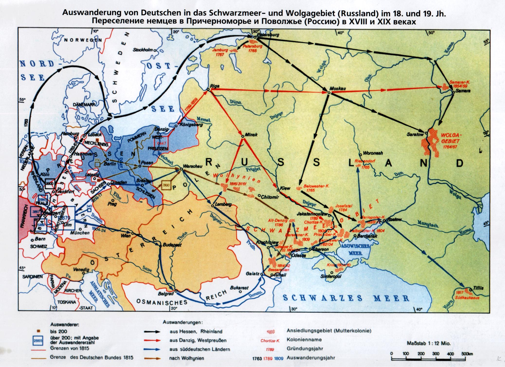 Переселение немцев в Россию