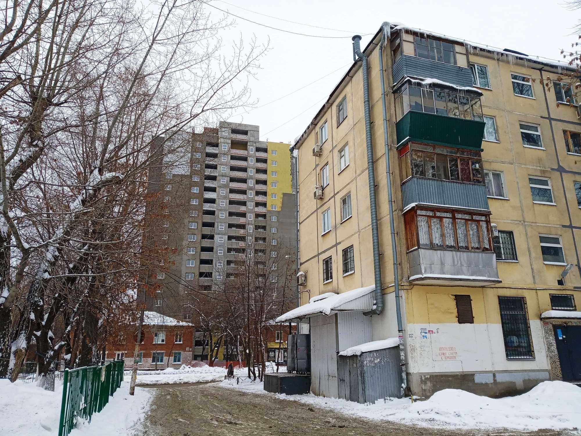 Точечная застройка на улице Ставропольской