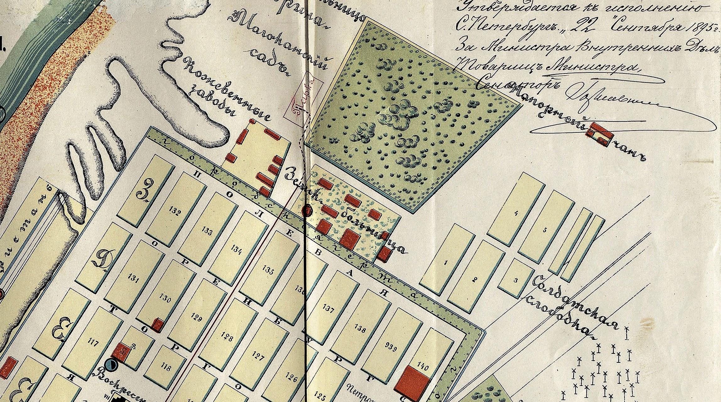 Карта 1894 года Самара