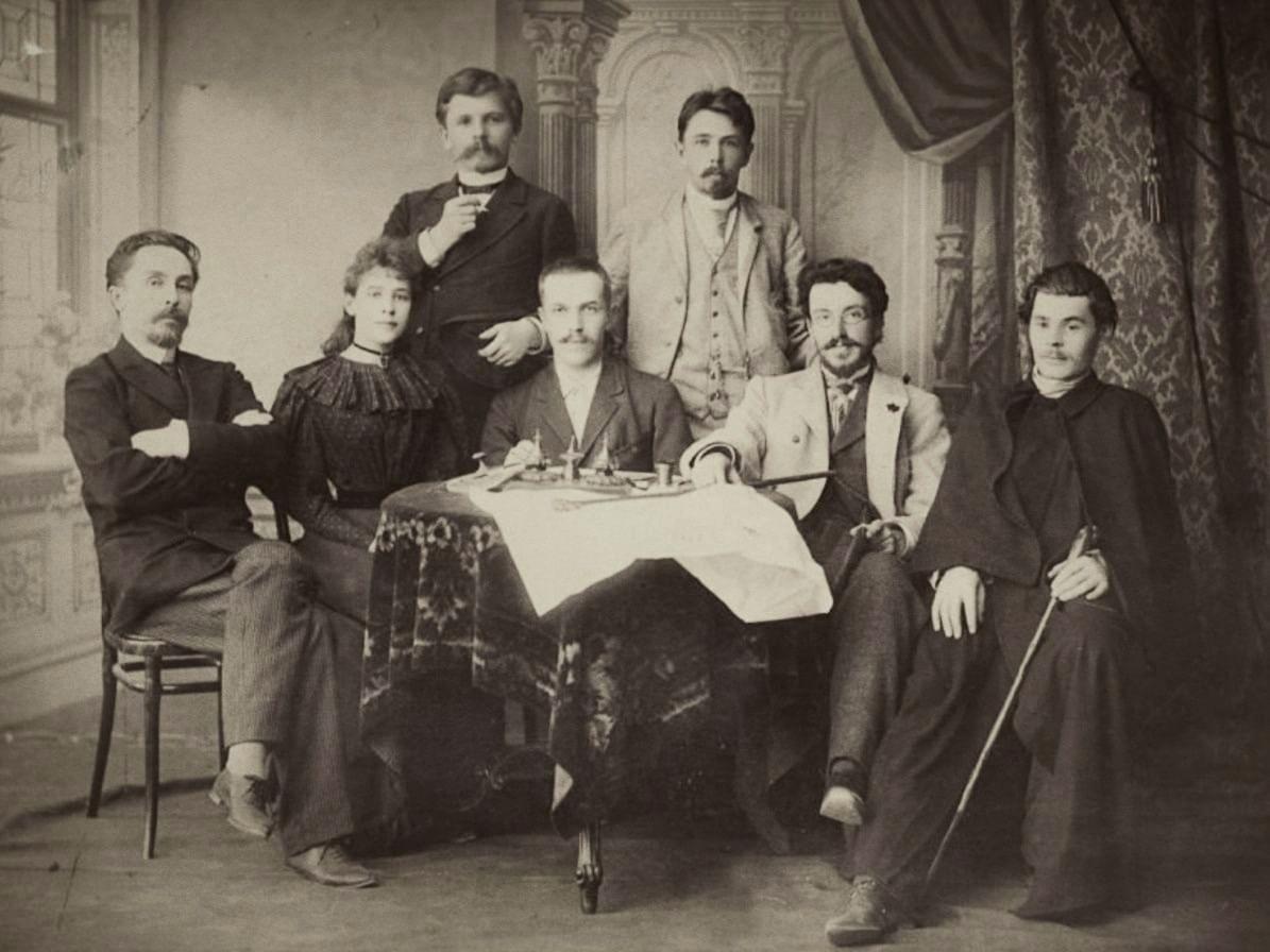 Максим Горький в редакции Самарской газеты