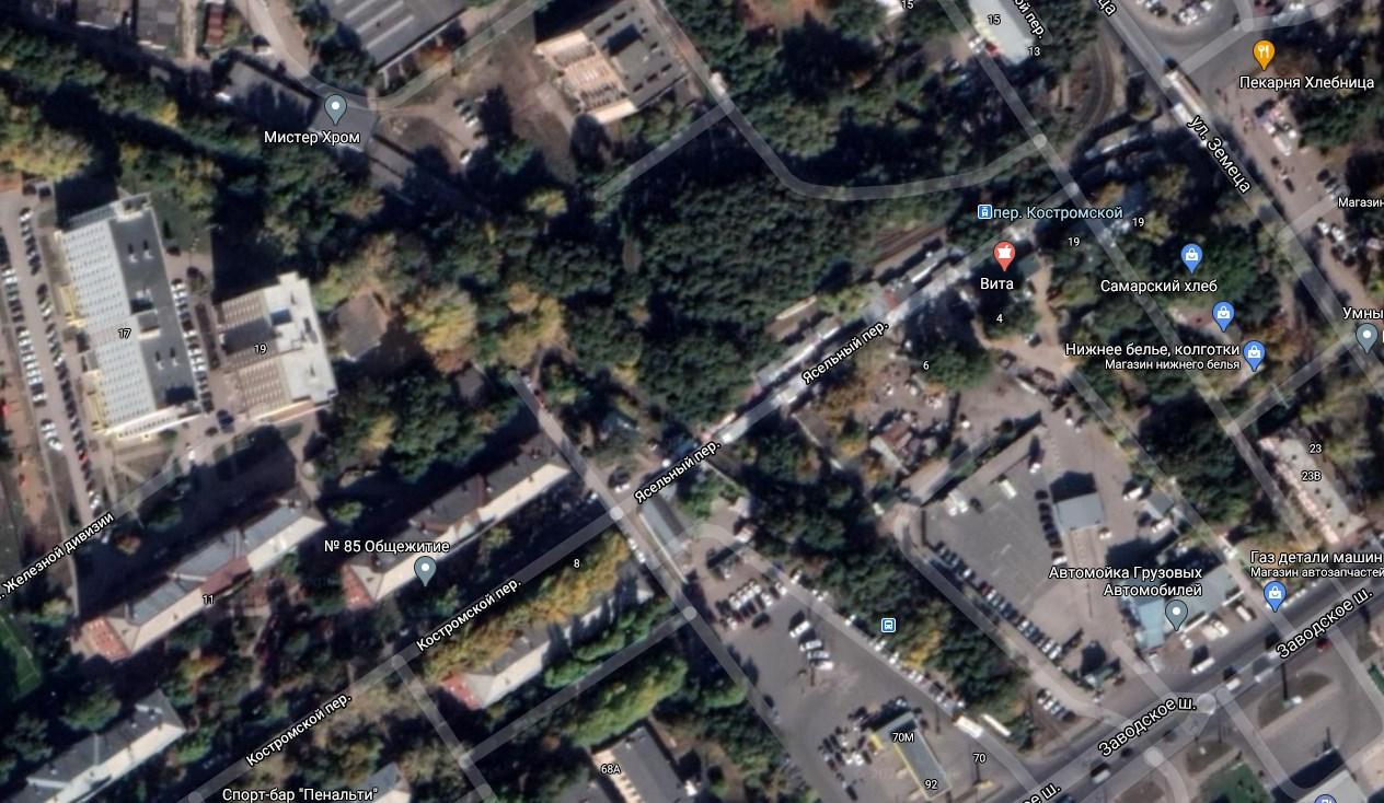 Ясельный переулок карты Гугл