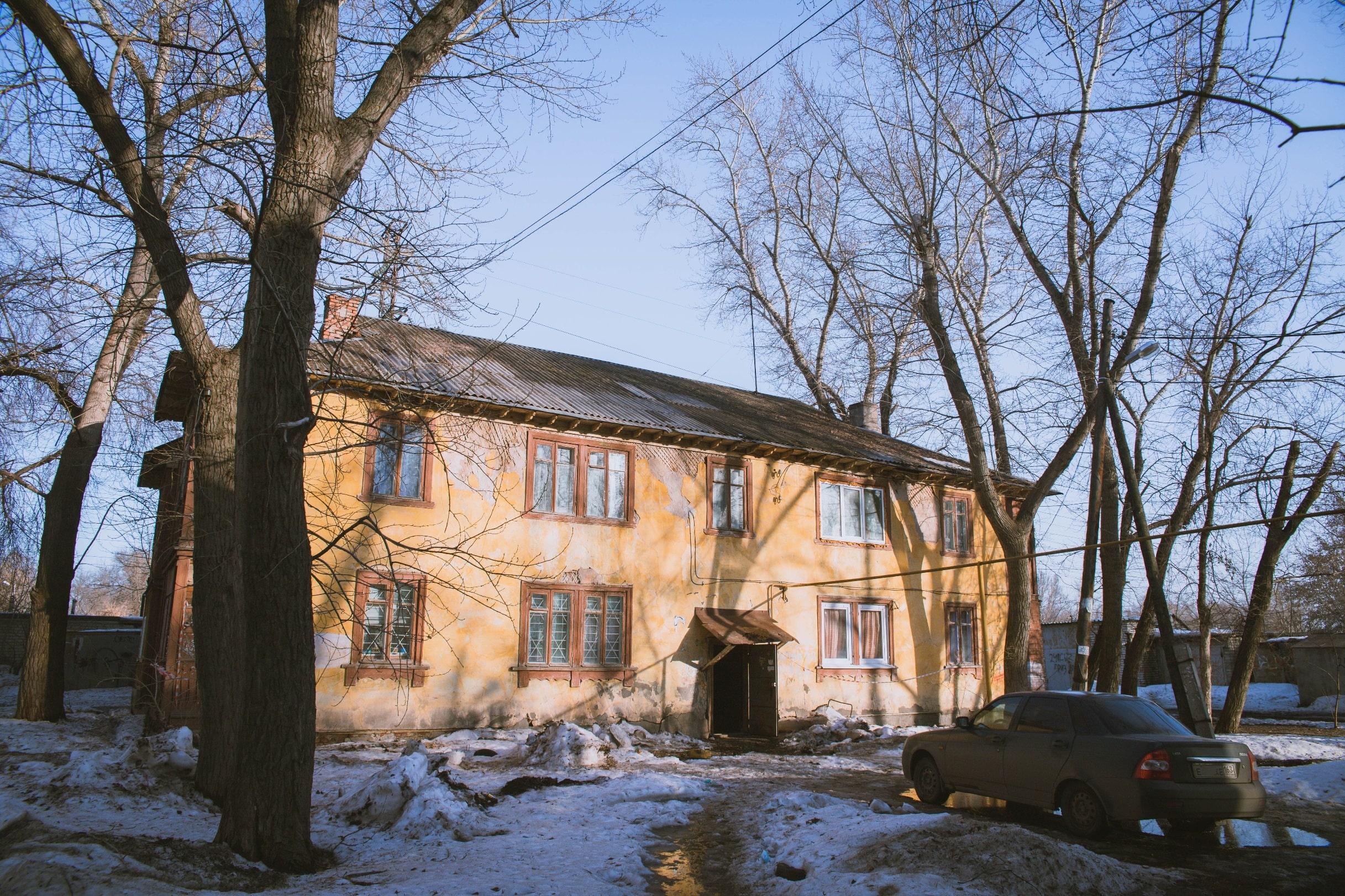 Двухэтажка на улице Строителей в Самаре