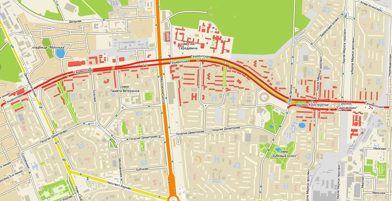 История и достопримечательности улицы Ташкентской