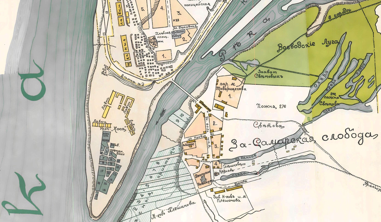 Карта Самары 1910 год