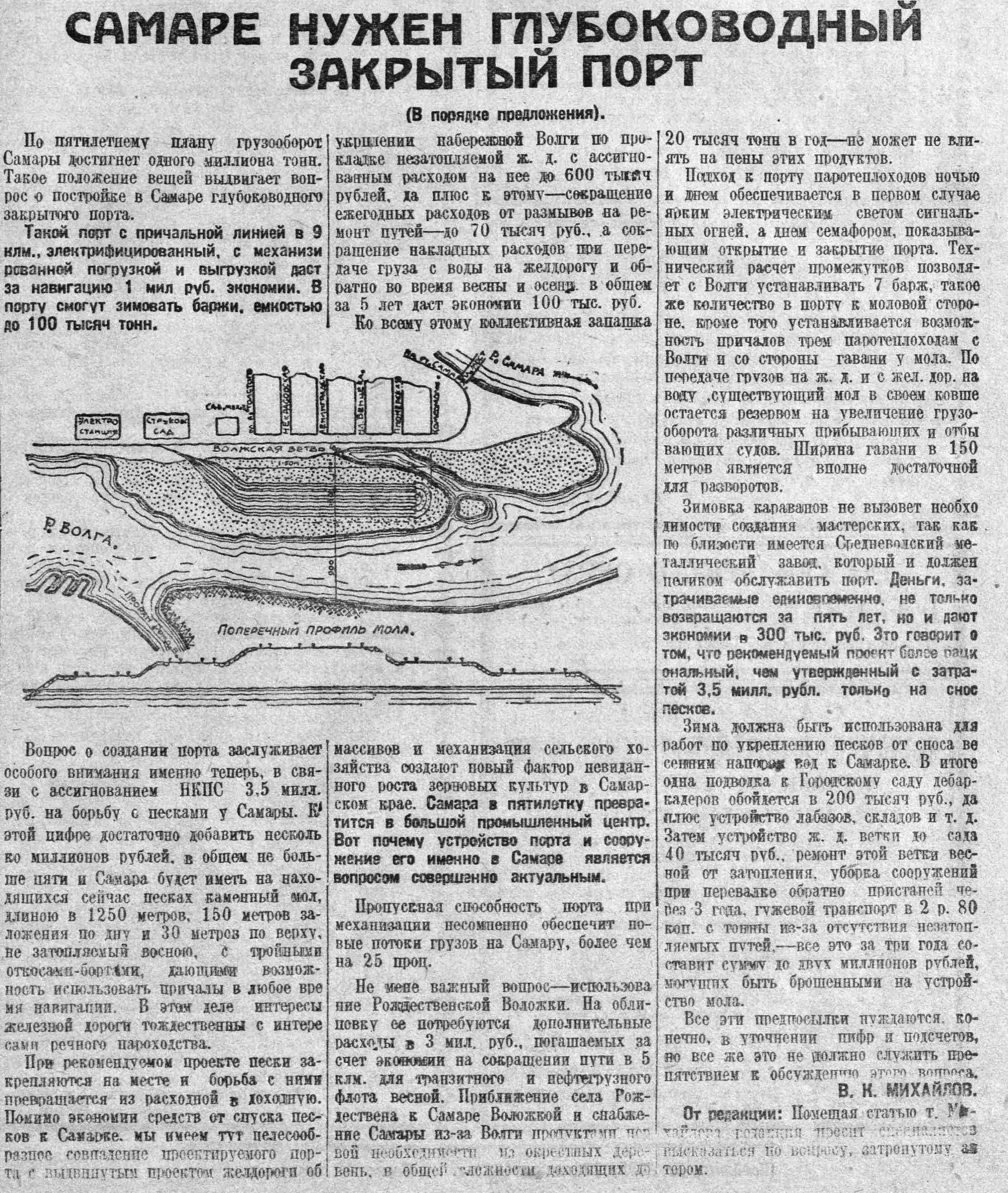 Стрелка реки Самары-ФОТО-07-ВКа-1929-11-24-необх-ть в глубоковод. речпорте