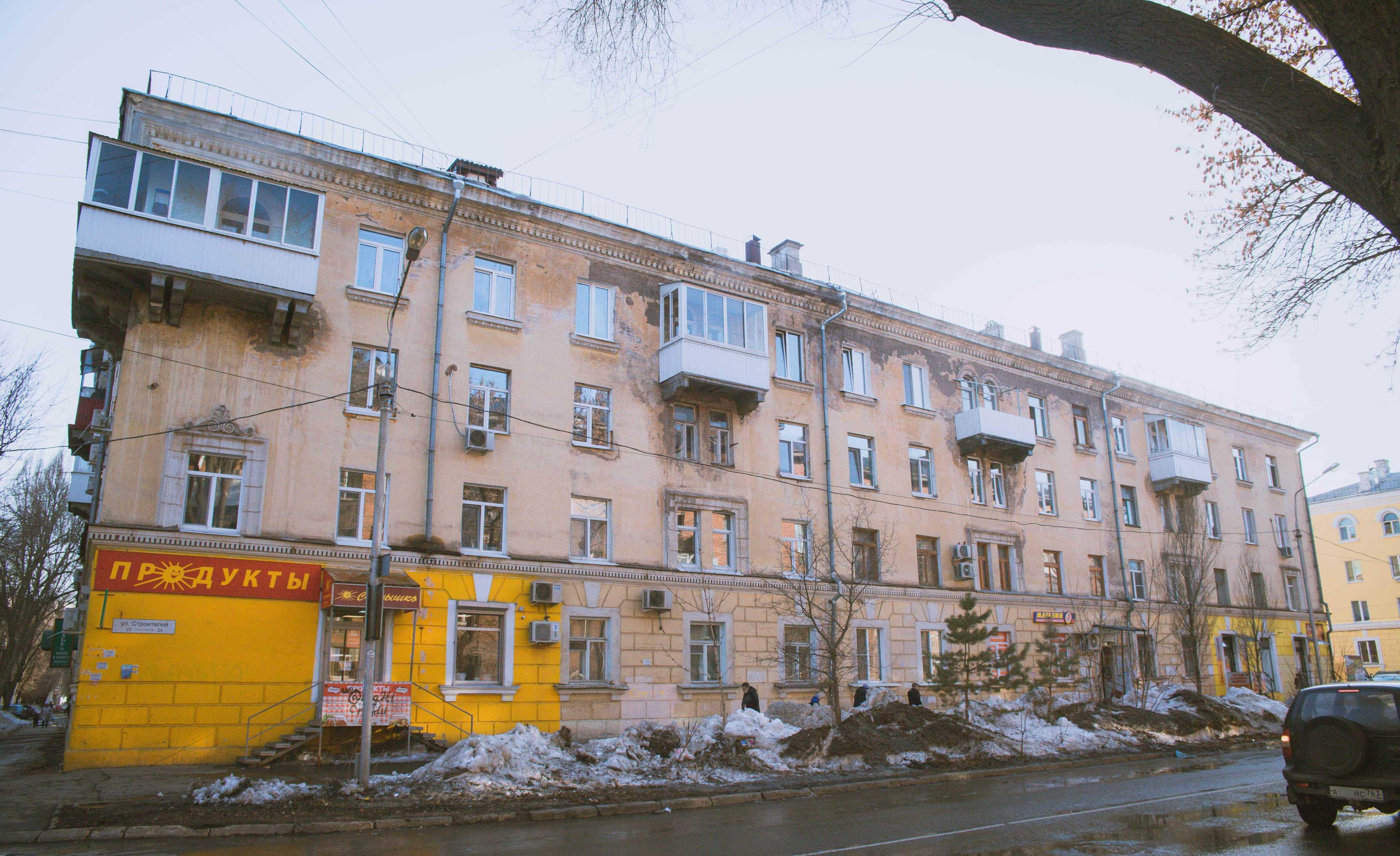 Угол улиц Строителей и Гвардейской