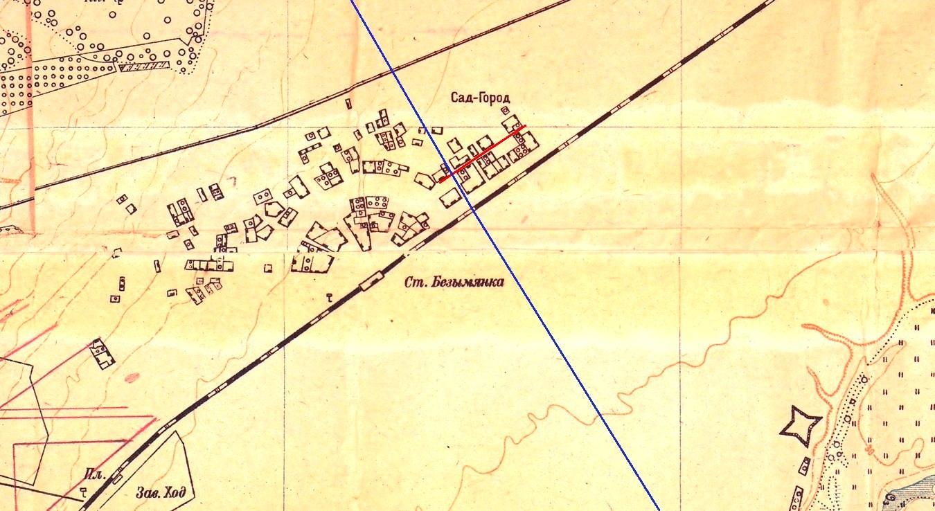 Карта Безымянки 1934 год
