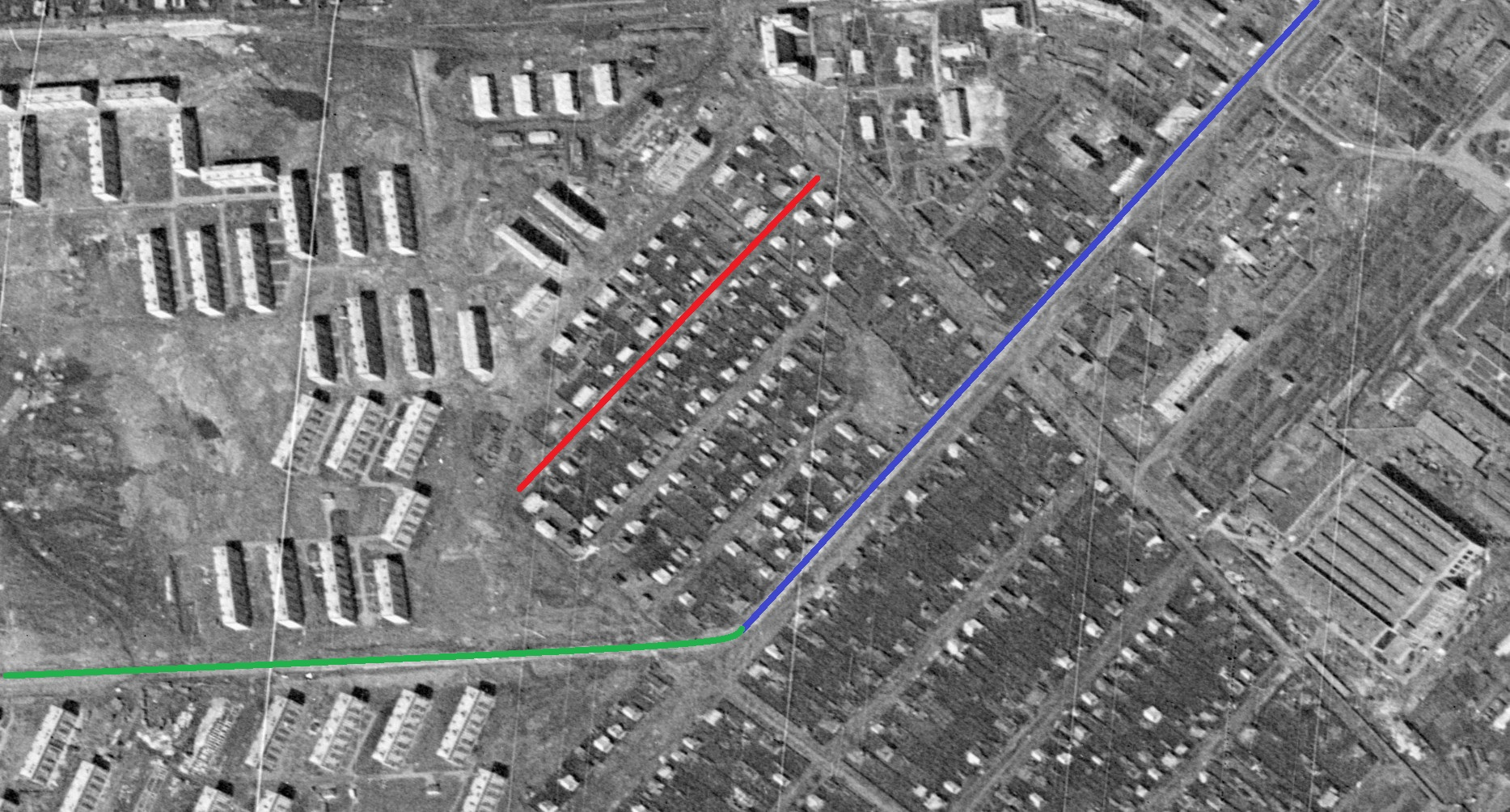 Спутниковый снимок 1965 года