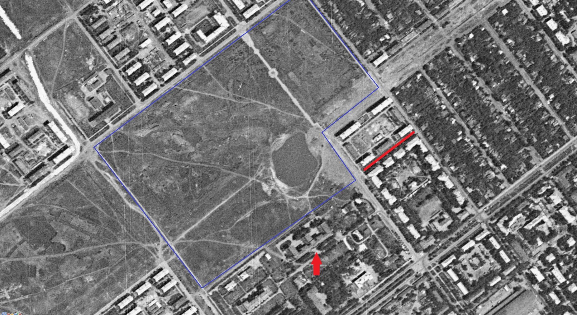 Тихий переулок в 1966 году