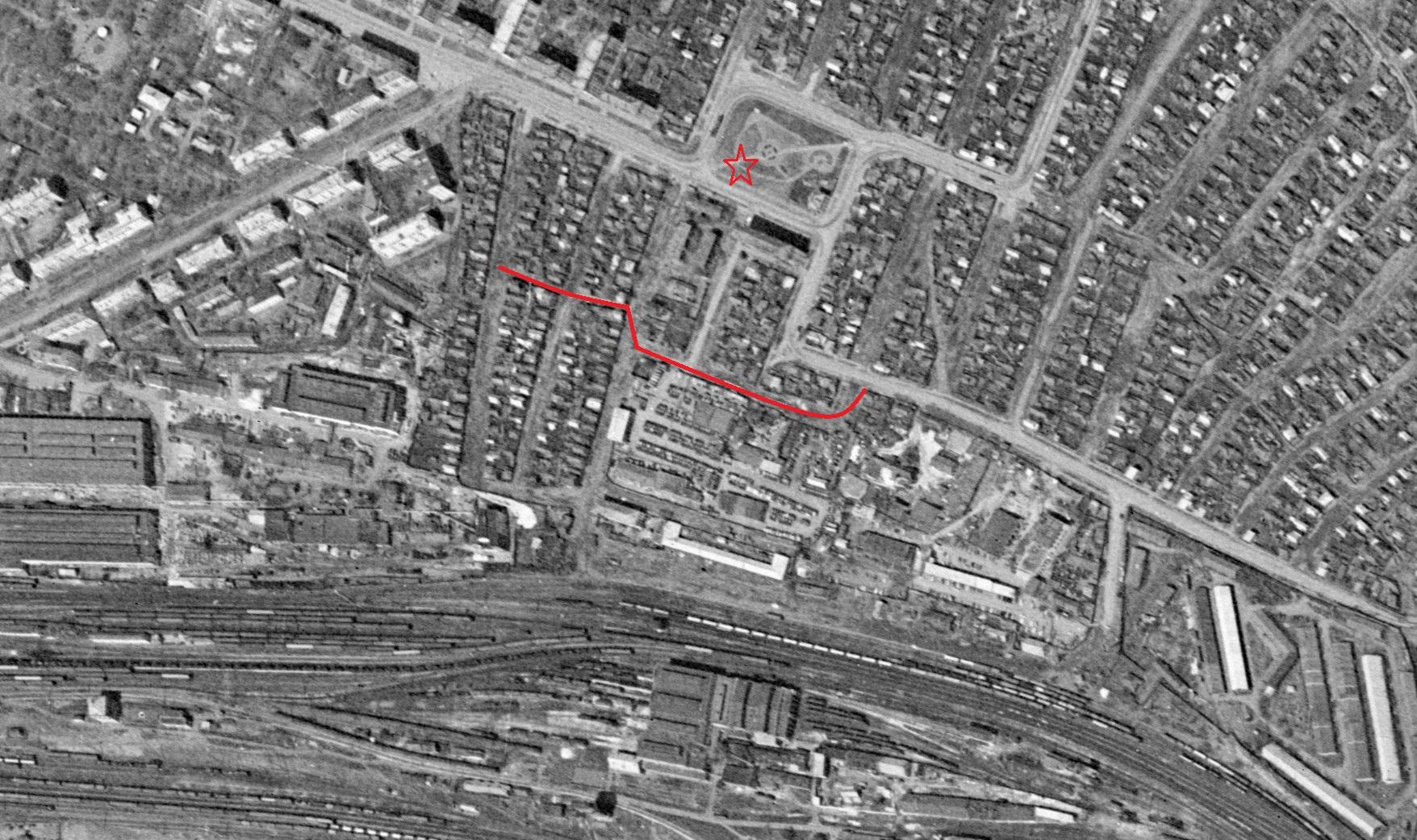Улица Ткачевская 1965 год