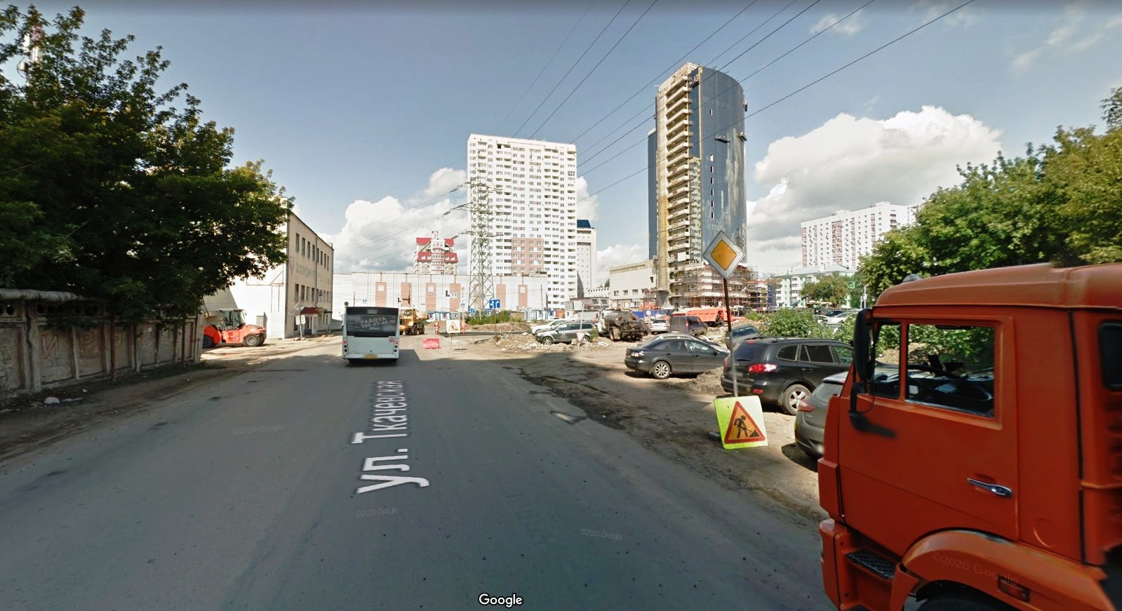 Улица Ткачевская 2019 год