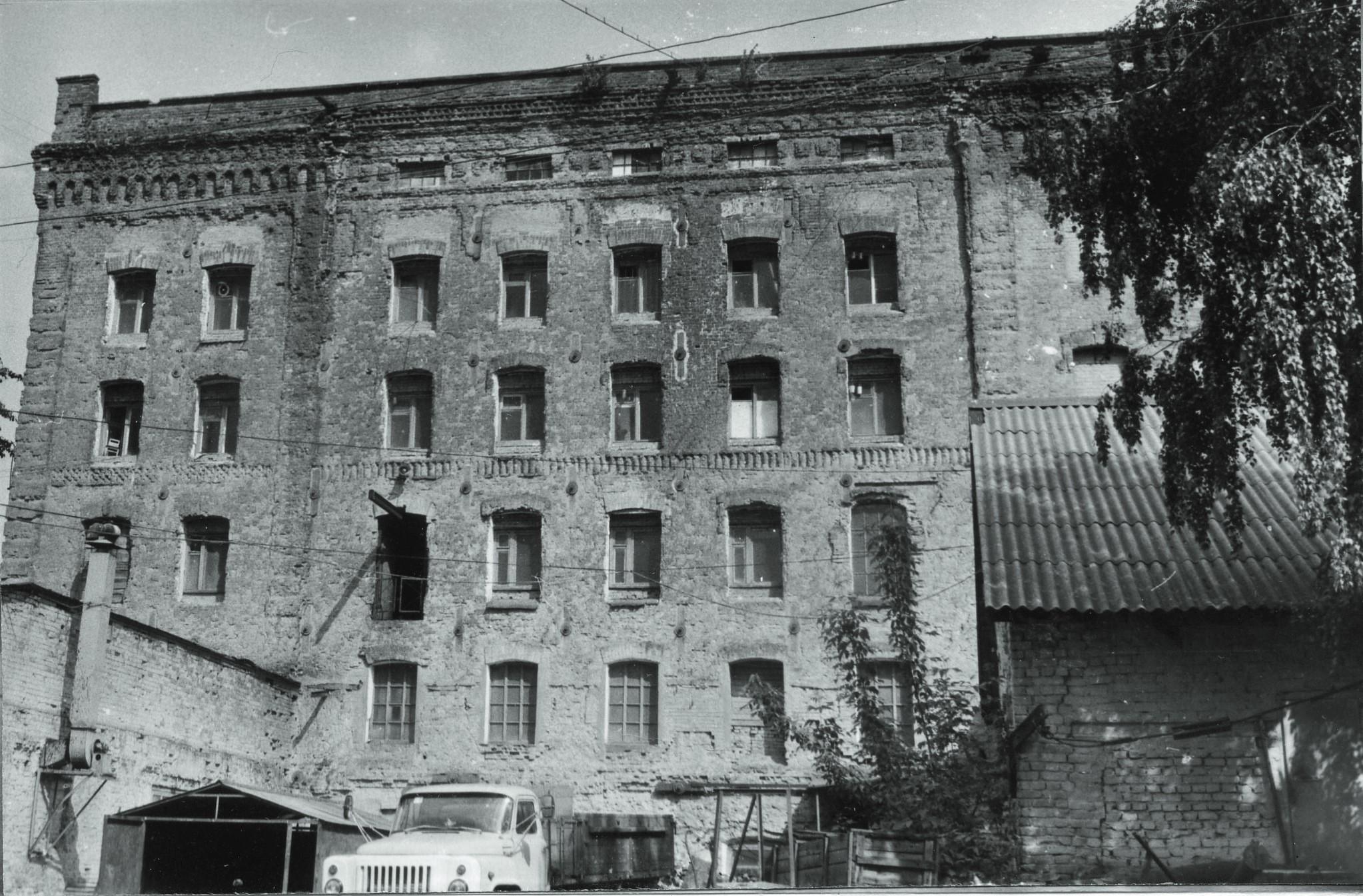 Паровая мельница Курлина/Бобермана в конце 1980-х годов.