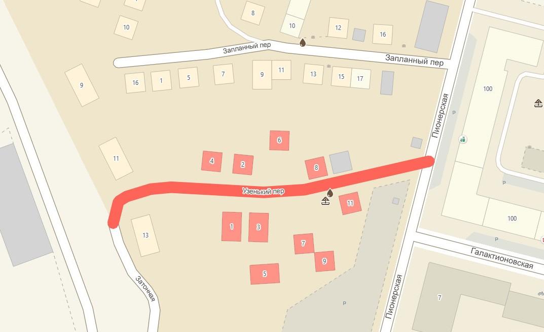 Узенький переулок в Самаре