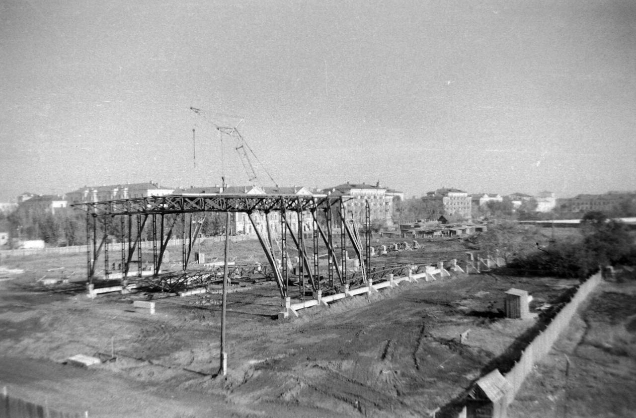 Начало строительства дворца Спорта