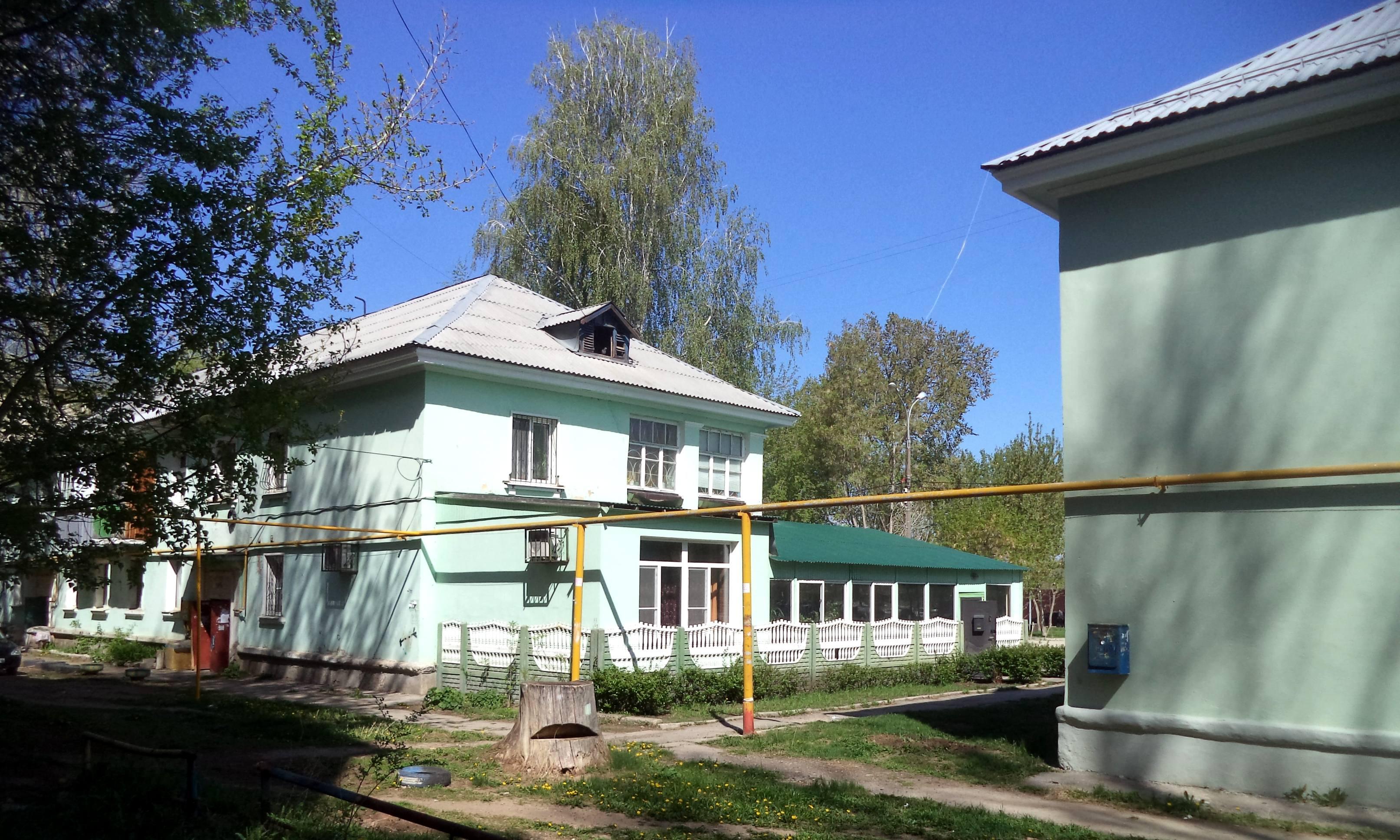 Первые дома на улице Флотской
