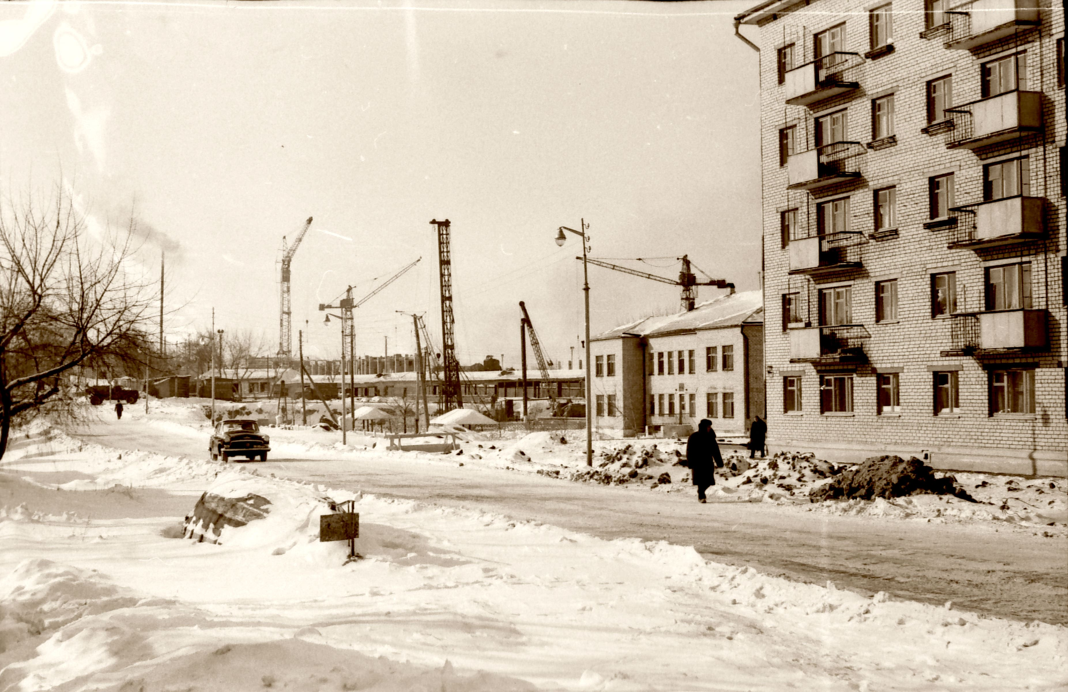 Строительство дворца спорта. Декабрь 1965