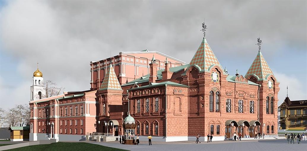 Один из проектов реконструкции здания самарского театра драмы